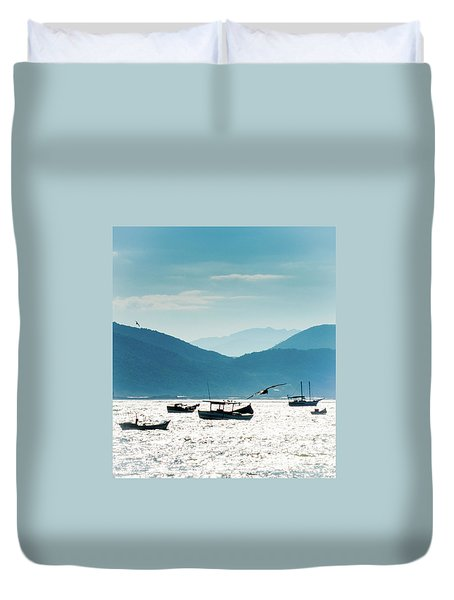 Sea And Freedom Duvet Cover by Martin Lopreiato