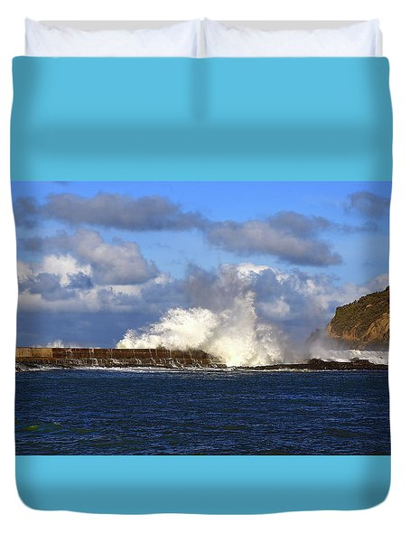 Sea And Sky Meet In The Middle Duvet Cover