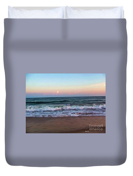 Duvet Cover featuring the photograph Sea And Sky by Roberta Byram