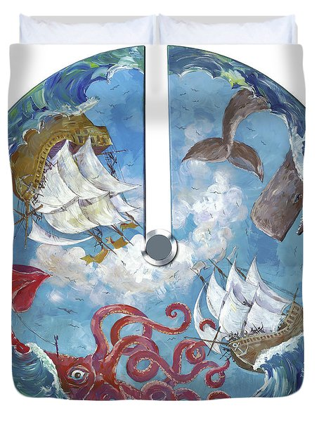 Sea Battle Duvet Cover