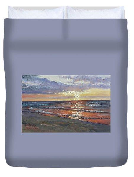 Sea Beach 8 - Baltic Sunset Duvet Cover