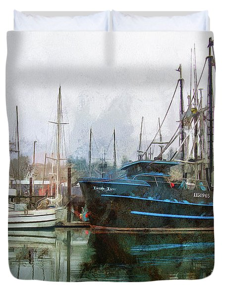 Duvet Cover featuring the photograph Sea Breeze And Lady Law by Thom Zehrfeld