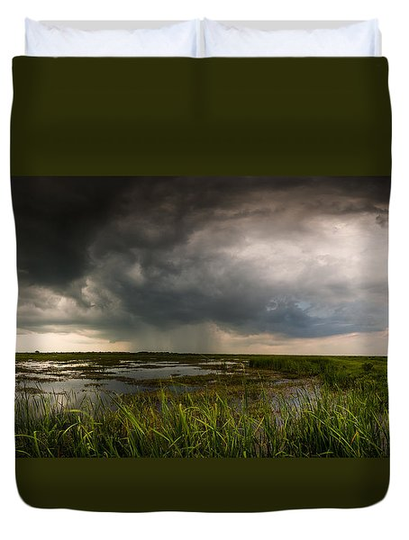 Duvet Cover featuring the photograph Sea Breeze Cell by Allen Biedrzycki