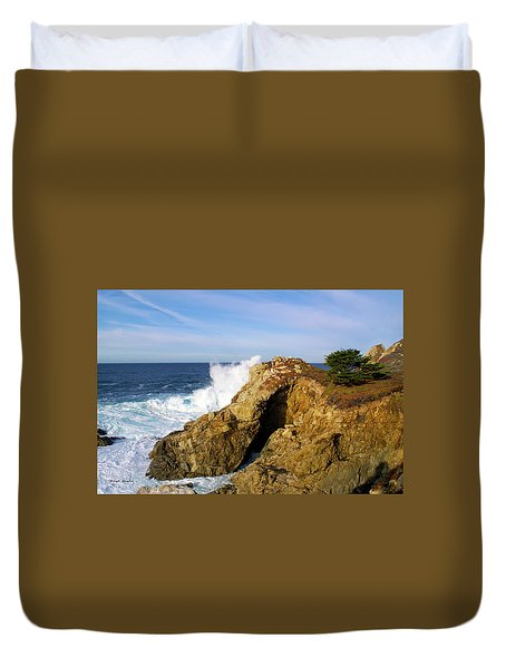 Duvet Cover featuring the photograph Sea Cave Big Sur by Floyd Snyder