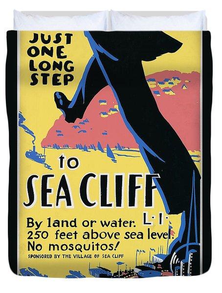 Sea Cliff Long Island Poster 1939 Duvet Cover