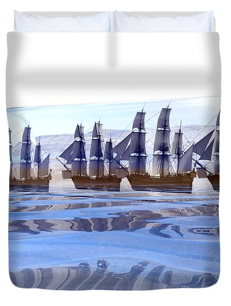Bottled And Ready To Ship Duvet Cover