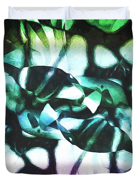 Duvet Cover featuring the photograph Sea Creatures  by Shawna Rowe