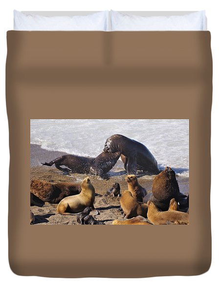 Sea Elephants Duvet Cover