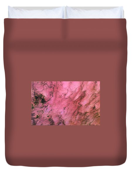 Sea Foam In Pink Duvet Cover