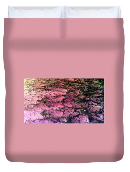 Sea Foam Pinkish Black Duvet Cover