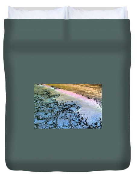 Sea Foam Pink Duvet Cover