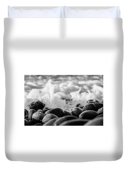 Sea Foam B-w Duvet Cover