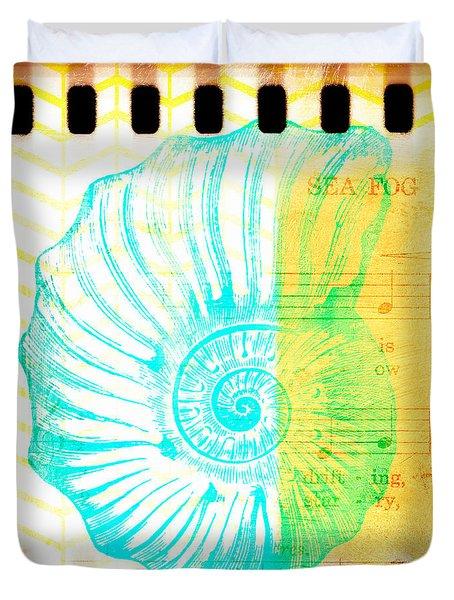 Sea Fog Nautilus Duvet Cover