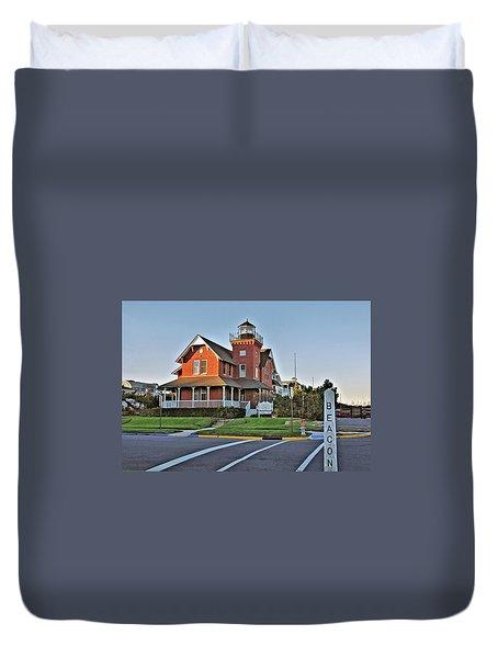 Sea Girt Light Station Duvet Cover