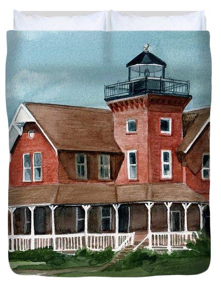 Sea Girt Lighthouse Duvet Cover