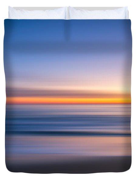 Sea Girt New Jersey Abstract Seascape Sunrise Duvet Cover