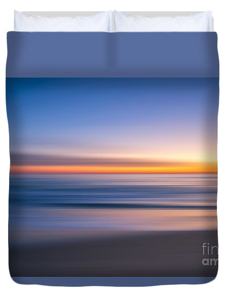 Sea Girt New Jersey Abstract Seascape Sunrise Duvet Cover