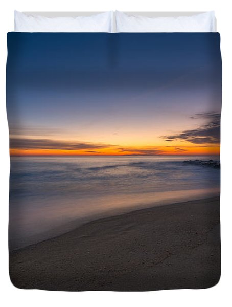 Sea Girt Sunrise New Jersey  Duvet Cover