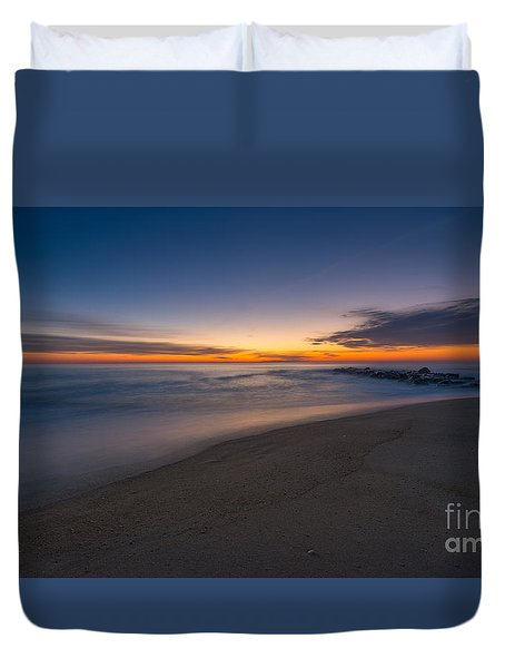 Sea Girt Sunrise New Jersey  Duvet Cover