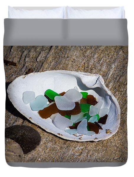 Sea Glass Treasure  Duvet Cover
