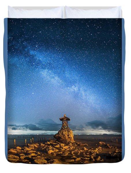 Duvet Cover featuring the photograph Sea Goddess Statue, Bali by Pradeep Raja Prints