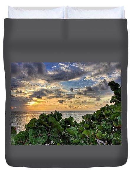 Sea Grape Sunrise Duvet Cover