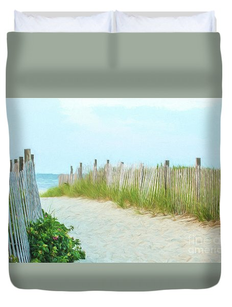 Sea Gull Beach #1 Duvet Cover