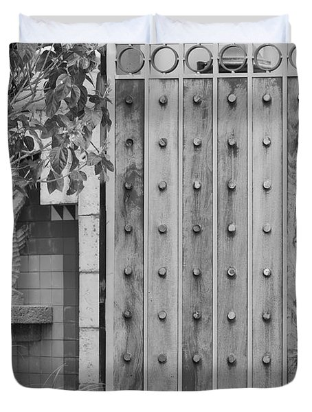 Sea Horse Gate Duvet Cover by Rob Hans