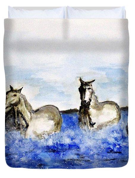 Sea Horses Duvet Cover