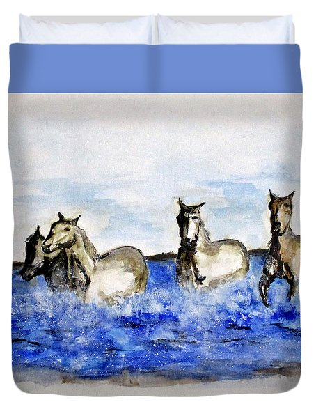 Sea Horses Duvet Cover