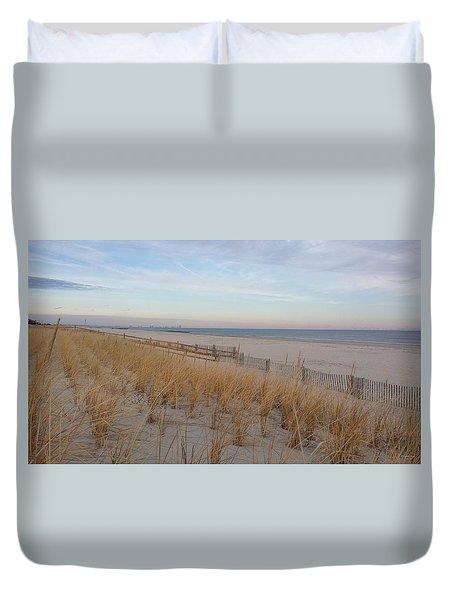 Sea Isle City, N J, Beach Duvet Cover