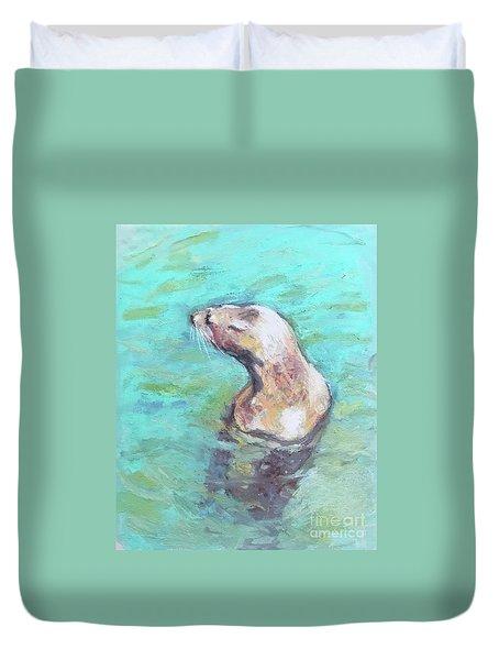 Sea Lion Duvet Cover by Yoshiko Mishina