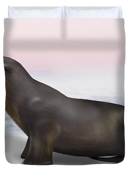 Sea Lion Zalophus Californianus - Marine Mammal - Seeloewe Duvet Cover