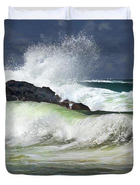 Sea Meets Rock Duvet Cover