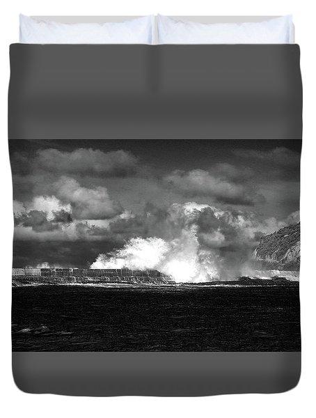 Duvet Cover featuring the photograph Sea Meets Sky by Nareeta Martin