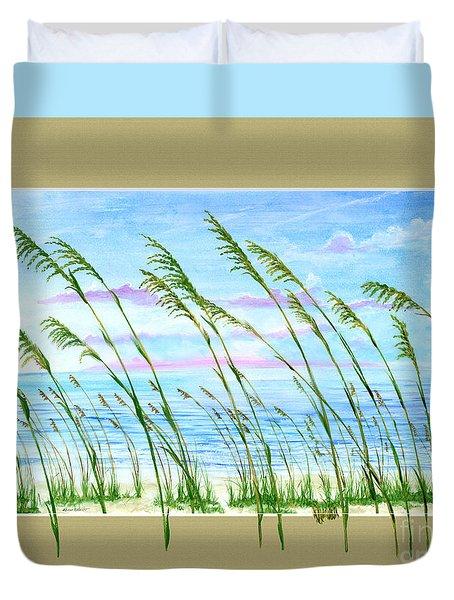 Sea Oats And Sea Duvet Cover