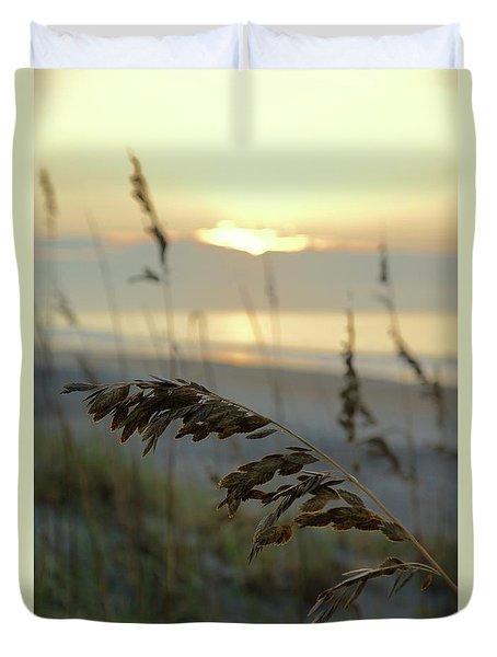 Sea Oats At Sunrise Duvet Cover