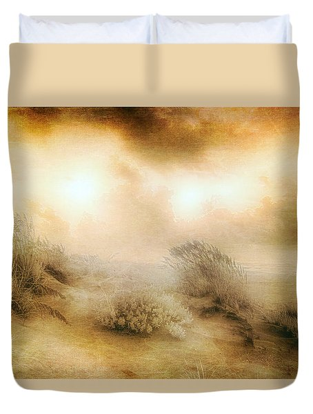 Sea Oats In Paradise Duvet Cover by Dan Carmichael