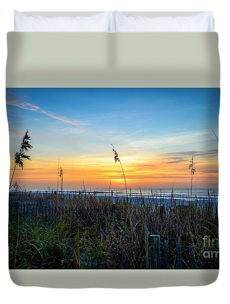 Sea Oats Sunrise Duvet Cover