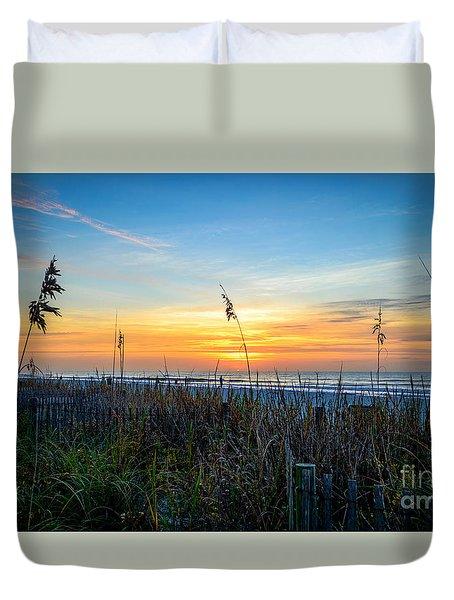 Sea Oats Sunrise Duvet Cover