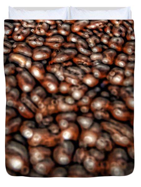 Sea Of Beans Duvet Cover by Gordon Dean II