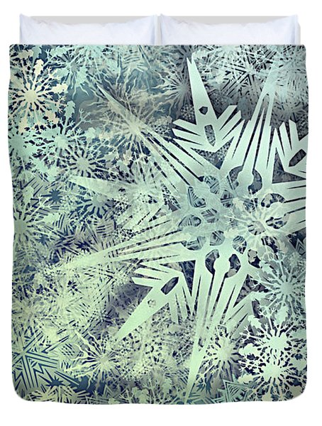 Sea Of Flakes Duvet Cover by AugenWerk Susann Serfezi
