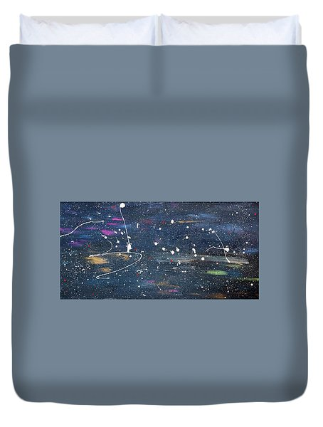 Duvet Cover featuring the painting Sea Of Love by Michael Lucarelli
