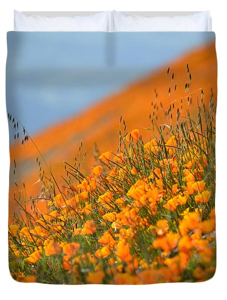 Sea Of Poppies Duvet Cover