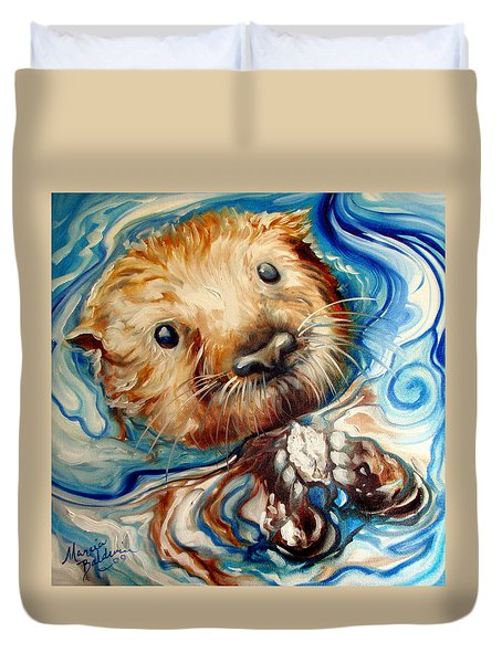 Sea Otter Swim Duvet Cover