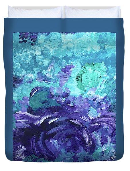 Sea Purple Duvet Cover