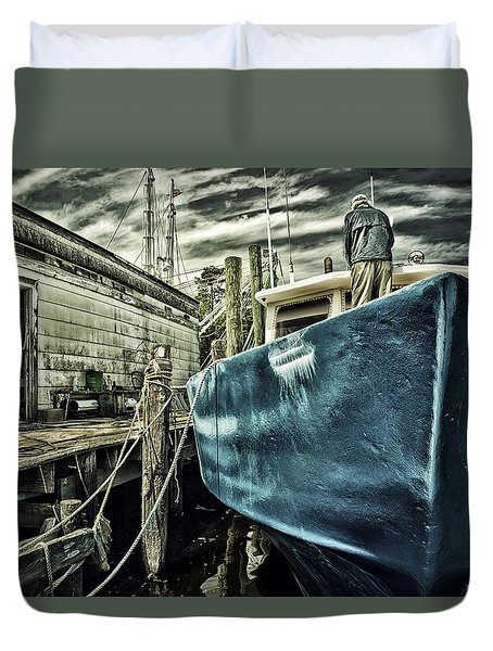 Sea Ready Duvet Cover by Denis Lemay