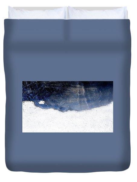Sea, Satellite - Coast Line On Blue Ocean Illusion Duvet Cover