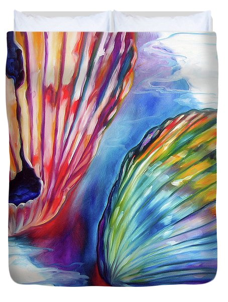 Sea Shell Abstract II Duvet Cover