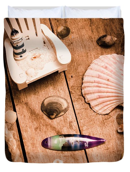Sea Shell Decking Duvet Cover